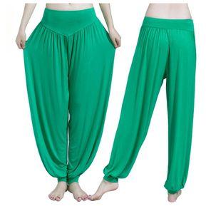 Ropa De Yoga Pantalones De Yoga Pololos Pantalones De Baile Pantalones De Tai  Chi -Verde 5c4fd24d5dc2