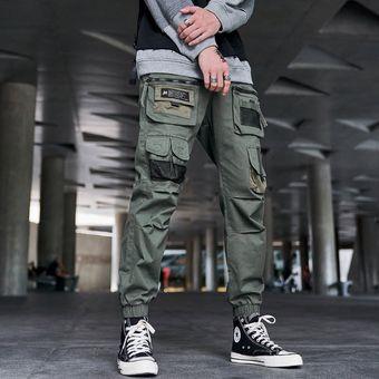 Pantalones Cargo Negro Hombres Ropa Informal Estilo Hip Hop Joggers Pantalon De Chandal Moda Harajuku Harem Pantalon Multi Bolsillo Pantalones De Hombre Informales Army Green Linio Mexico Ge598fa178dgllmx