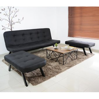 Compra juego de sala berlin sofacama 2 puff mesa de for Muebles de sala de moda