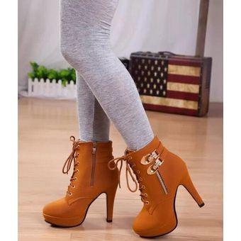 lo último elige mejor comprar baratas Plataforma De Tacones Altos Mujer Lace Up Zapatos Mujer Tacon Zapatos Dama