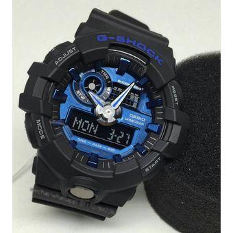 e0a0f65bf354 Reloj Casio G-Shock GA710-1A2 Digital Analógico Acuático 200m - Negro Azul