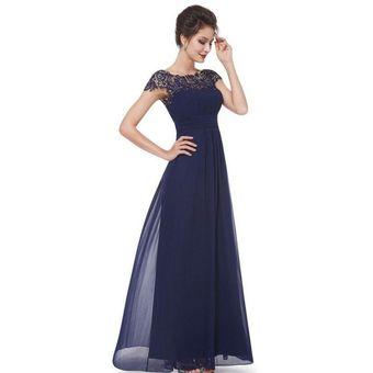 Vestidos De Noche Genérico Mujer Azul Profundo