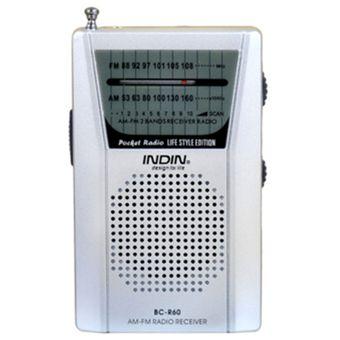 Compra Radio Portátil AM FM Banda Con Antena Telescópica -Plata ... f3171dac0128