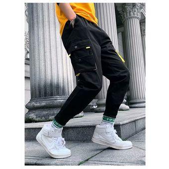 Pantalones Modernos Para Hombre Pantalones Holgados De Bolsillo Para Hombre Pantalones Para Correr A La Moda Con Varios Bolsillos Pantalones Para Hombre Ropa De Calle Cui Black Linio Peru Ge582sp11xlirlpe