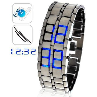 50eb43c4b4ef Compra Reloj Led Hombre Digital Lava Samurai - Plateado Luz Azul ...