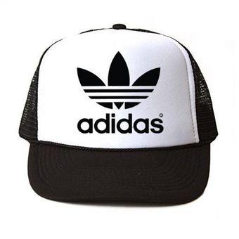 Compra Gorra Negra Frente Blanco Personalizada Logo Negro Adidas ... bca6c53d3c3