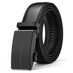 68892f9c0eb6 Correa de los hombres de moda de cuero Jeans cinturón-115CM-Negro
