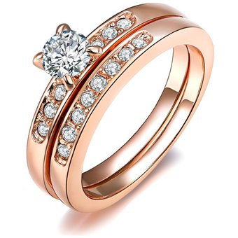 0233217f7e45 Anillo La Tienda 88 Enchapado en oro Rosa de 18kl para Mujer-Rosa