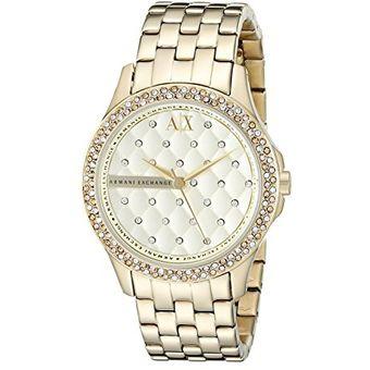 3560491454ad Compra Reloj Armani Exchange AX5216 Para Dama-Dorado online