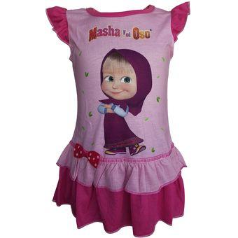 Vestido Masha Y El Oso Rosa