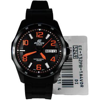 Compra Reloj Casio Para Hombre EF 132PB Negro Con Calendario online ... 53d2171ab440