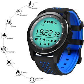 df35a564c44a Reloj inteligente Deportivo a prueba de agua UV Android iOS - Azul negro