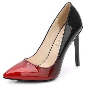 b748f97bca7 Zapato de Tacón Alto Rojo+Negro