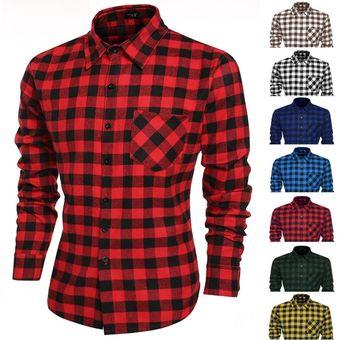 8677fe2639195 Compra Para Cuadros Negro Hombre Online Algodón Rojo De Camisa Y gqrgS