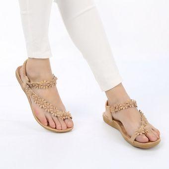 b54e09eb Eh Casual Zapatillas Zapatos Sandalias De Playa Floral Para Mujer-Rosa  Albaricoque