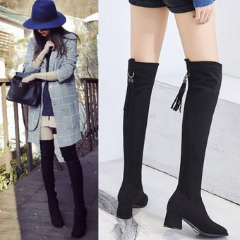 1a5f0919c Compra Botas Largas sin piel dentro Fashion-Cool Para Mujer-Negro ...