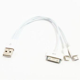 bbf18b59d49 Compra Cable Cargador Usb 3 En 1 Micro Usb Ipad Iphone 4/5/6/7 Y ...