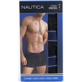 Nautica Caballero 3-pack Cotton Boxer Trunks Color Negro 14875664be9d