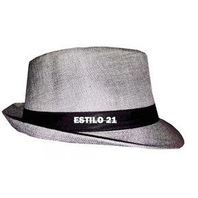 Sombrero Fedora Tipo Gardel Playa Sol Talla Única Gris 4b483a792df
