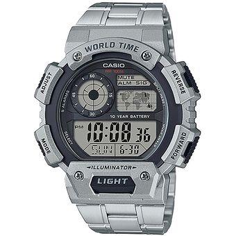 f3a68d07e132 Reloj CASIO AE-1400WHD-1AVCF ILUMNATOR Collection Digital 5 Alarmas-Acero
