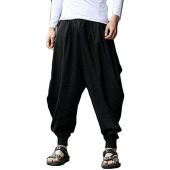 Algodonlino Pantalones Anchos Harem Flojo Hombres Linio Peru Ge006fa0lr8n6lpe