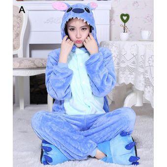 e7b97bf484 Unisex Cálido Pijamas Para Adultos Vestuario Ropa De Dormir -Azul Stitch
