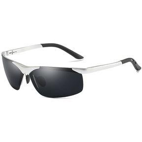 Gafas De Sol De Conducción Polarizada Para Hombres-plata 424d5b9228f4