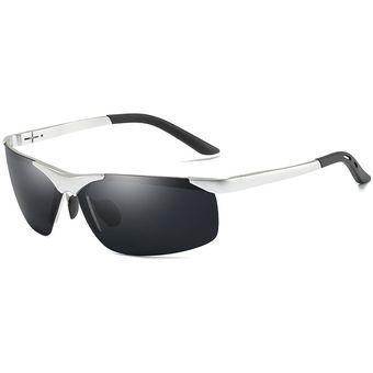 Polarizada Plata Gafas De Sol Hombres Conducción Para c5ARqj3L4