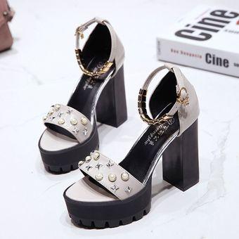 Compra Las mujeres Slipsole BX sandalias de tacón alto gris online ... 4ce945093405