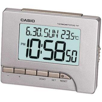 Reloj Casio Digital Dq Color Despertador 8d 747 Plateado Delgado Nwm0nv8