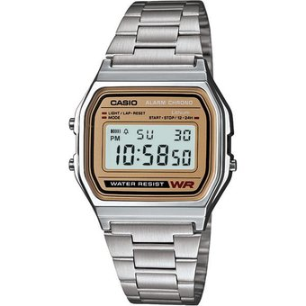 d0042e205d25 Compra Reloj Casio Vintage A158 Plata Cara Dorada online