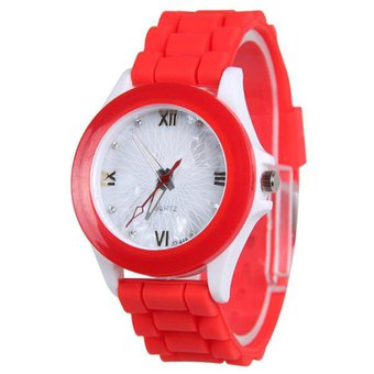 5feab9989fe5 Compra Reloj Mujer Cuarzo Deportivo Silicona Susenstone Rojo online ...
