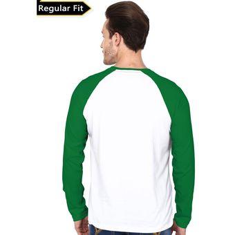 Compra Camisa Manga Larga Raglán 99tshirts Para Hombre-Blanco Y ... febf2f82f80cd