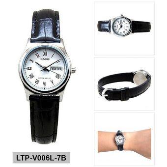 4ae634894c1c Compra Reloj Casio Mujer LTP-V006L-7B Análogo Pulso Cuero Indicador ...
