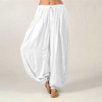 Pantalones Harem Mujer Algodon Holgado Yoga Afghanian Genie Indio Aladino Pantalon De Yoga Blanco Linio Peru Ge006sp1joz7ylpe