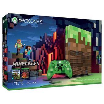Consola Xbox One S 1tb Edicion Minecraft Especial