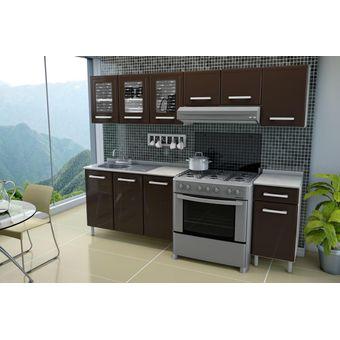 Compra cocina de acero bertolini gourmet chocolate for Simulador de muebles de cocina online