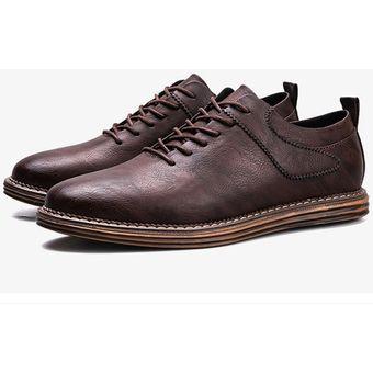 Ecocuero Marrón Zapatos Ocio Y Formal De Vestir Para Hombre qcqUf1tvxw 9f48f025203ba