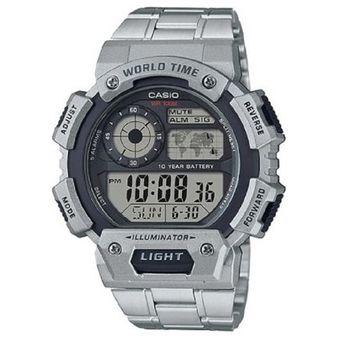 6ae9c0a4f240 Compra Reloj Casio AE-1400WHD-1A Digital Gris Para Hombre online ...