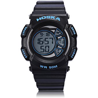 64002ae818c6 HOSKA H020B Reloj Digital LED Para Niños 5ATM Día Mostrar Reloj De Pulsera