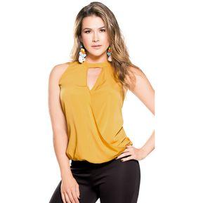 44b0bfaa192 Blusa Adulto Marketing Personal Para Mujer Amarillo