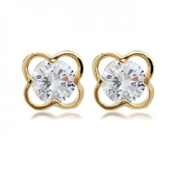 ce3781b43920 Compra Aretes con cristales Palmas De Reyna Gold Lucky-Oro online ...