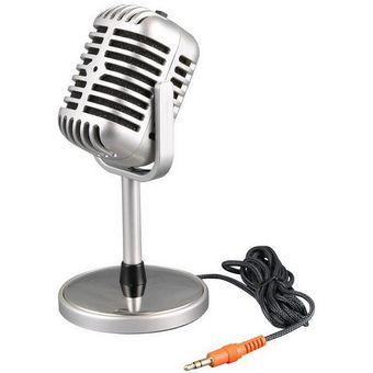 Compra Microfono Retro Vintage Vieja Escuela Para Pc Chat Karaoke