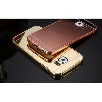 e0226871d08 Case Funda Bumper Aluminio Tipo Espejo Metálico Protector Para Samsung S6  Edge