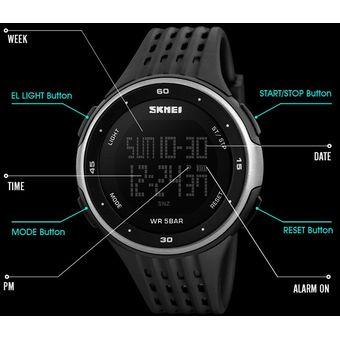 c10d5a278f82 Compra Reloj Hombre 50m Contra Agua Skmei Relojes Deportivo Digital ...