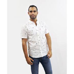 Levis Camisa manga Corta Bright White con iconos azules 52f090d986