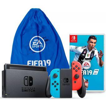 Compra Consola Nintendo Switch Neon Con Juego Fifa 19 Online Linio
