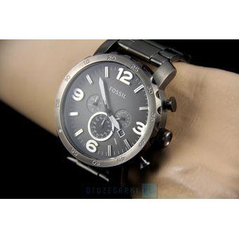 Compra Reloj Fossil Nate JR1437 Cronometro Fecha Acero Inoxidable ... b7585af39096