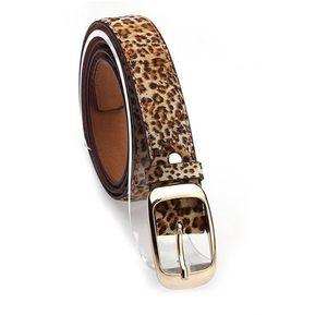 5fa8da082 Cinturón De Cuero De Imitación Para Mujer-Leopardo