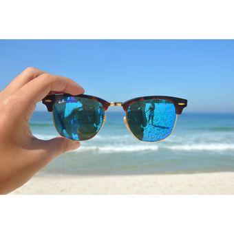Compra Lentes De Sol Ray Ban Clubmaster RB3016 1145 17 Blue Mirror ... 3b4bb4e3812a